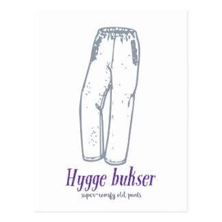 Hyggeのbukser: 古く心地よいズボンを祝って下さい! ポストカード
