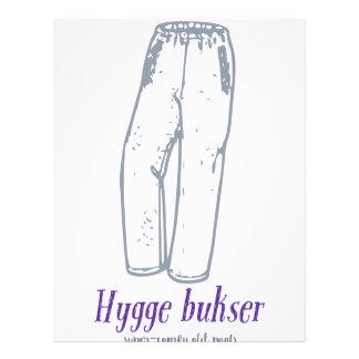Hyggeのbukser: 古く心地よいズボンを祝って下さい! レターヘッド