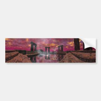 HYPERIONの世界-水の寺院 バンパーステッカー