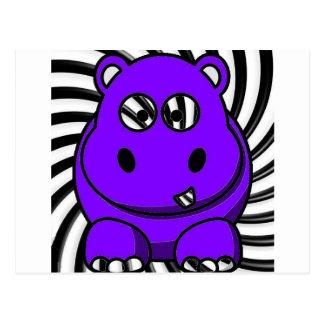 Hypnoのカバの紫色 ポストカード
