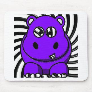 Hypnoのカバの紫色 マウスパッド