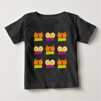 HypnoのフクロウのTシャツ ベビーTシャツ
