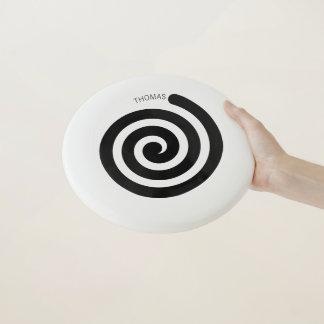 Hypnotic Spiral Frisbee with Custom Name Wham-Oフリスビー