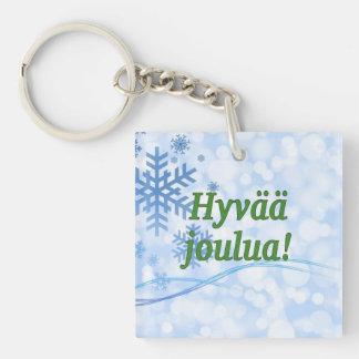 Hyvääのjoulua! フィンランドのgfのメリークリスマス キーホルダー