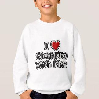 Iお母さんと買物をするハート スウェットシャツ
