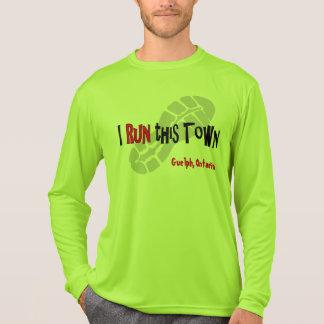 Iこの町-カスタムなスポーツTek LS --を走って下さい Tシャツ