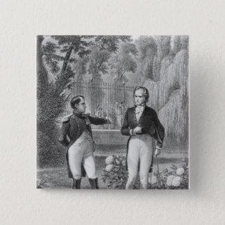 Iつおよびベンジャーミンにナポレオンの間で会います 5.1CM 正方形バッジ