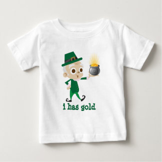 Iつに金ゴールドの小妖精があります ベビーTシャツ