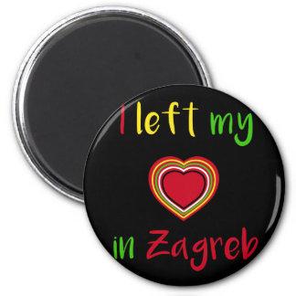 Iつはザグレブのクロアチアの磁石の私のハートを残しました マグネット
