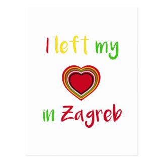Iつはザグレブのクロアチアの郵便はがきの私のハートを残しました ポストカード