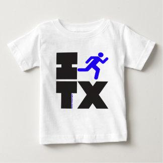 Iつはテキサス州を走ります。 青および黒 ベビーTシャツ