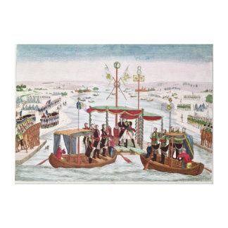 Iつ及び皇帝アレキサンダーにナポレオンの間で会いますI キャンバスプリント