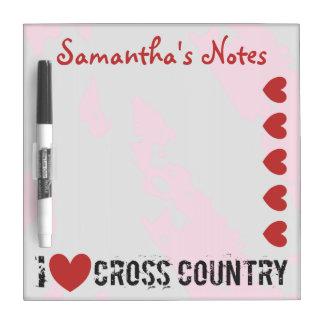 Iのハートのクロス・カントリー- I愛CC --を個人化して下さい ホワイトボード