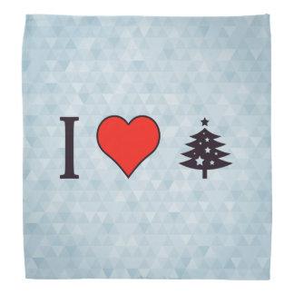 Iクリスマスツリーを飾るハート バンダナ