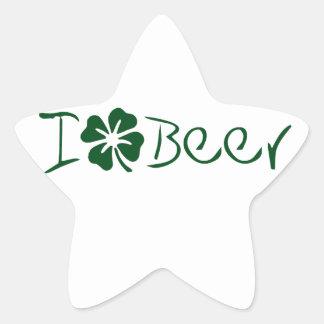 Iクローバービール 星シール