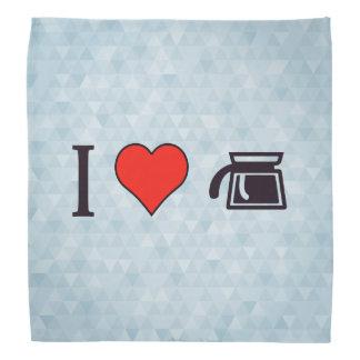 Iコーヒーを作るハート バンダナ