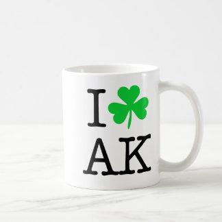 Iシャムロック(愛ハート)アラスカAK コーヒーマグカップ