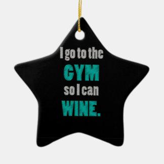 Iトレーニングは従って私-ワインを飲むことができますすすり泣き 陶器製星型オーナメント