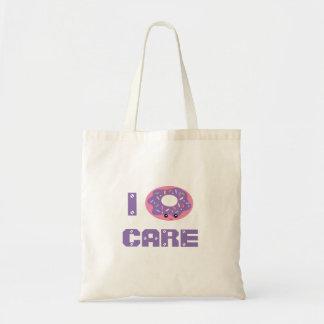 Iドーナツ心配のかわいいかわいいドーナツしゃれのユーモアのemoji トートバッグ