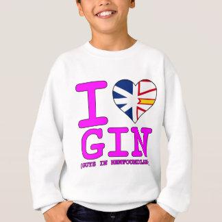 Iニューファウンドランドのハートのジンの人 スウェットシャツ