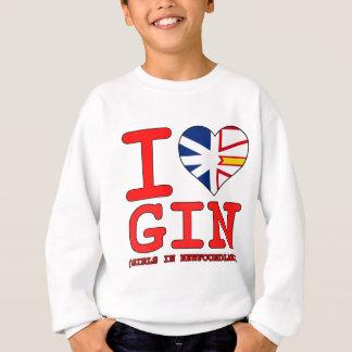 Iニューファウンドランドのハートのジンの女の子 スウェットシャツ