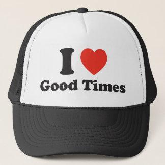 Iハートのよい時間トラック運転手の帽子 キャップ