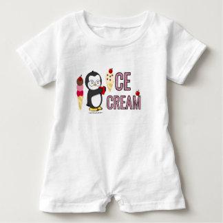 Iハートのアイスクリーム! ベビーロンパース