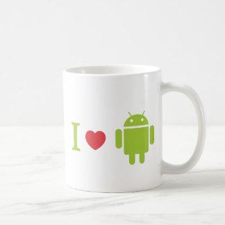 Iハートのアンドロイド コーヒーマグカップ