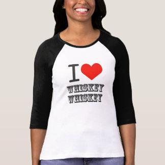 Iハートのウィスキーのウィスキー Tシャツ