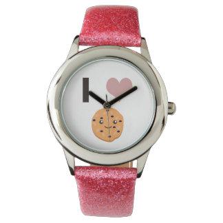 Iハートのオートミールクッキー 腕時計