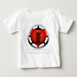 Iハートのカジノはあなたの単語を加えます ベビーTシャツ