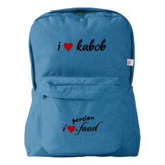 IハートのカバブI愛カバブ AMERICAN APPAREL™バックパック