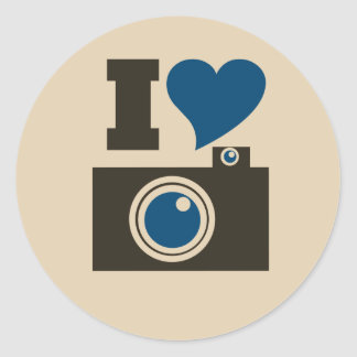 Iハートのカメラ ラウンドシール