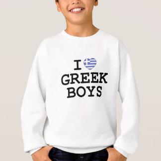 Iハートのギリシャ人の男の子 スウェットシャツ