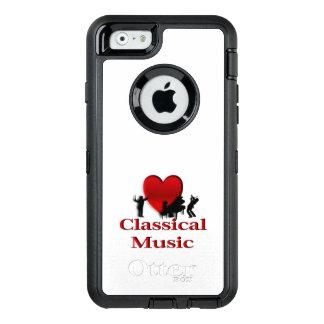 Iハートのクラシック音楽 オッターボックスディフェンダーiPhoneケース