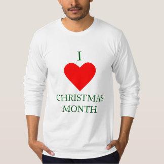 Iハートのクリスマス月 Tシャツ