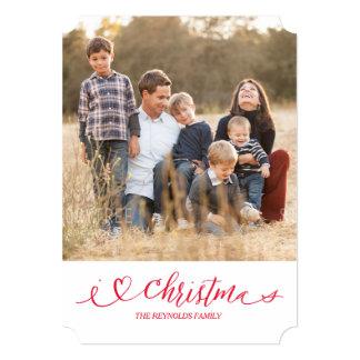 Iハートのクリスマス カード