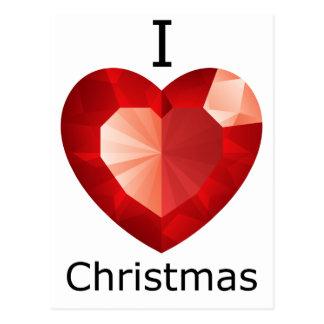 Iハートのクリスマス ポストカード