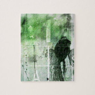 Iハートのクロム-緑 ジグソーパズル