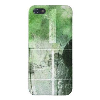 Iハートのクロム-緑 iPhone 5 カバー