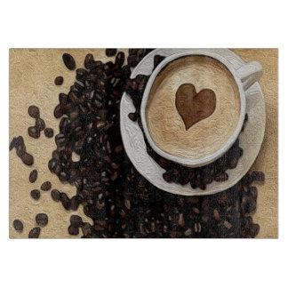 Iハートのコーヒー カッティングボード