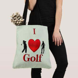 Iハートのゴルフ緑 トートバッグ