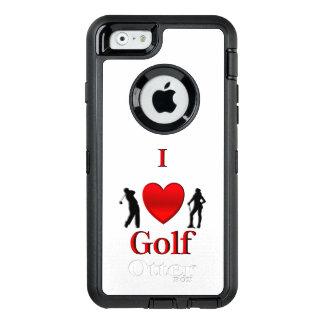 Iハートのゴルフ オッターボックスディフェンダーiPhoneケース