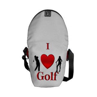 Iハートのゴルフ メッセンジャーバッグ