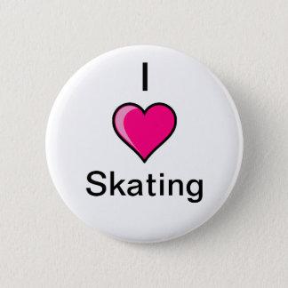 Iハートのスケートで滑るボタン 5.7CM 丸型バッジ