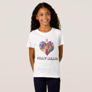 Iハートのゼリー菓子-女の子の素晴らしいジャージーのTシャツ Tシャツ