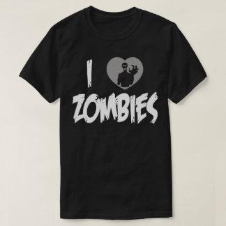 Iハートのゾンビ愛ゾンビのおもしろいなユーモアのTシャツ Tシャツ