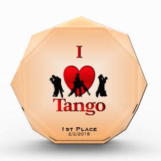 Iハートのタンゴのダンス賞 表彰盾