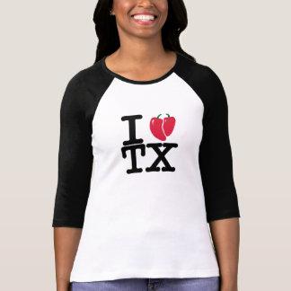 Iハートのテキサス州のチリペッパー Tシャツ