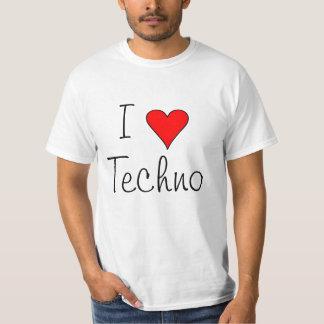Iハートのテクノ Tシャツ